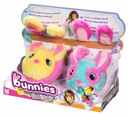 Bunnies: maskotki 2 króliczki magnetyczne