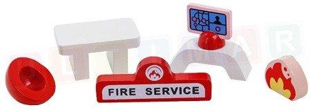 Drewniana remiza strażacka: straż pożarna - TIMA