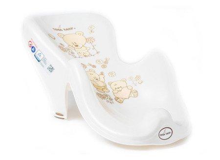 Fotelik do kąpieli antypoślizgowy Miś biała perła