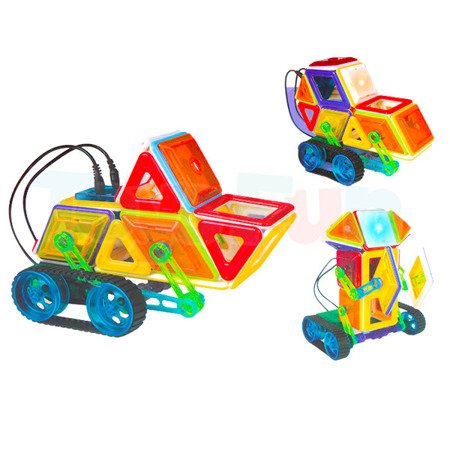 roboty zdalnie sterowane z klocków magnetycznych to sposób na zabawę i edukację Twojego dziecka