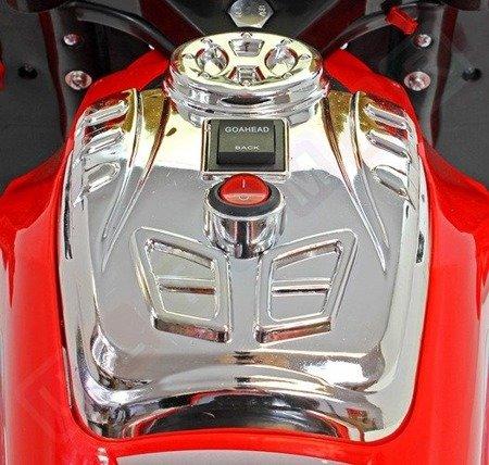 Motor, ścigacz na akumulator RainStar: 125cm srebrny