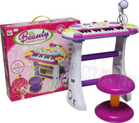 Organki pianinko z krzesełkiem mikrofon