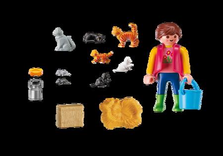 Playmobil Rodzina kotów z akcesoriami