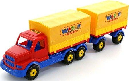 Polesie Wader (44273): Samochód z plandeką i przyczepą Stalker
