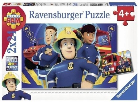 Ravensburger (RAP090426): Puzzle Strażak Sam niesie pomoc