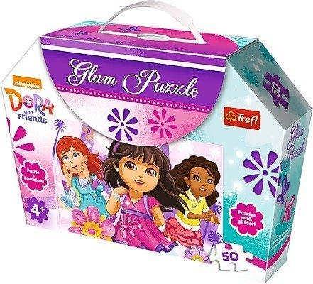 Trefl 14814: Puzzle 50 el. Glam - Lśniące sukienki