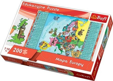 Trefl (15503) Puzzle edukacyjne 200 el - Mapa Europy