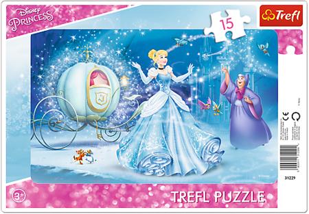 Trefl (31229): Puzzle ramkowe 15 el. Magiczna noc