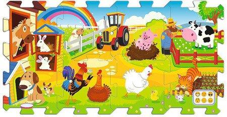 Trefl Edukacyjna układanka, puzzlopianka Farma Fun
