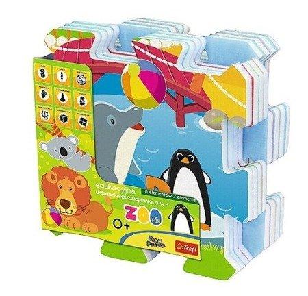 Trefl: Edukacyjna układanka, puzzlopianka: Zoo Fun 5w1