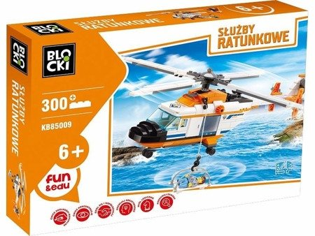 iCOM (KB85009): Klocki Blocki Służby Ratunkowe Helikopter 300 el