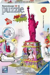 Ravensburger (RAP125975): Puzzle 3D Statua Wolności Pop Art